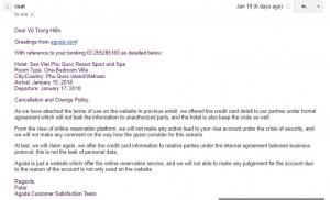 Cảnh báo: Nguy cơ lộ thông tin thẻ VISA từ các trang đặt phòng như Agoda, booking